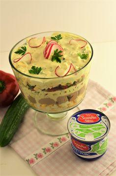 salata de oua in straturi Pudding, Desserts, Hip Bones, Pork, Salads, Custard Pudding, Deserts, Dessert, Postres
