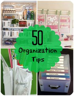 50-organization-tips ( Some good, some so-so)