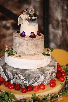 wedding cake made of cheese wheels