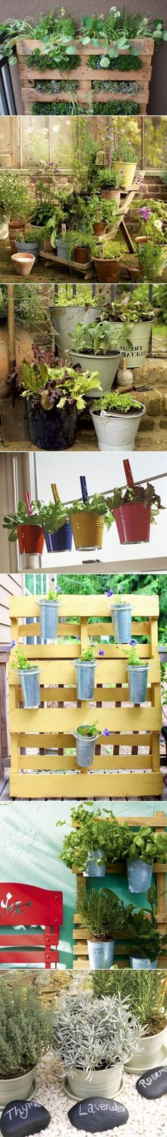 DIY Herb Gardens Ideas - Think out of the pot! Diy Herb Garden, Love Garden, Dream Garden, Vegetable Garden, Home And Garden, Outdoor Gardens, Indoor Outdoor, Outdoor Projects, Garden Inspiration
