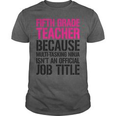 Fifth Grade #Teacher MultiTasking Ninja, Order HERE ==> https://www.sunfrog.com/Funny/110125702-310104168.html?29538, Please tag & share with your friends who would love it , #renegadelife #birthdaygifts #xmasgifts