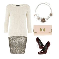 Creamy white sweater with some sparkle