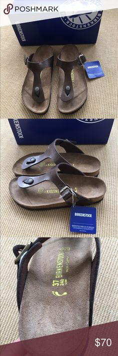 Birkenstock sandals Gizeh NWOB toffee 37 Birkenstock Gizeh sandals. These are in a Golden Toffee color. Women's 37 or 6.5-7 US. New in box. Great looking sandals!! Birkenstock Shoes Sandals