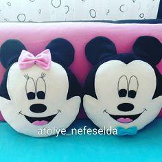 Çocuklar için yastık modelleri, Mickey & Minnie mause yastık