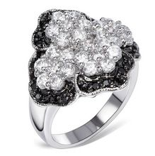 Black and White CZ Crystal Ring for Women Platinum Plated With 49pcs Cubic Zirconia Floral Engagement Ring Fashion Jewelry hyle,   Engagement Rings,  US $20.66,   http://diamond.fashiongarments.biz/products/black-and-white-cz-crystal-ring-for-women-platinum-plated-with-49pcs-cubic-zirconia-floral-engagement-ring-fashion-jewelry-hyle/,  US $20.66, US $15.50  #Engagementring  http://diamond.fashiongarments.biz/  #weddingband #weddingjewelry #weddingring #diamondengagementring…