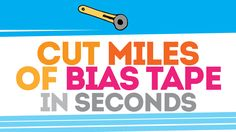 "Cut Miles (okay, lots!) of bias tape SO FAST! Such a great tip, wish I'd known it sooner! (From ""Bite Sized Biggie"" Site) Quilting Tips, Quilting Tutorials, Sewing Tutorials, Dress Tutorials, Burp Cloth Patterns, Sewing Patterns, Skirt Patterns, Bag Patterns, Blouse Patterns"