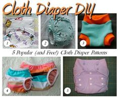5 free cloth diaper patterns