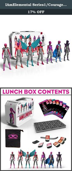 IAmElemental Series1/Courage: Complete Set of Seven Female Action Figures with Lunch Box Carry Case. A time magazine invention of the year & top toy of the year winner iamelemental created the worlds first female action figures designed specifically for girls (and boys) that are loved for their forward-thinking design and engineering by men and women as well. Get the complete series 1/courage elements of power figures in a special carrying case. Case includes: all 7 female action figures...