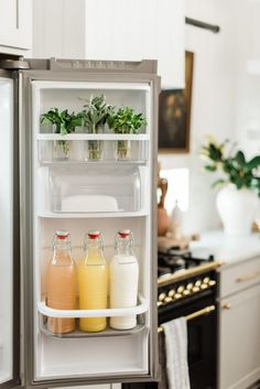 Great Kitchen Storage Solution That Anyone Can Do kitchens Guess what day is it today? It's reveal kitchen day! Everyone can do more for their kitchen organizing solution. Our goal is to create functional. Kitchen Cabinet Storage, Kitchen Pantry, Kitchen Dining, Kitchen Decor, Fridge Decor, Refrigerator Storage, Shaker Kitchen, Kitchen Cabinets, Fridge Organization