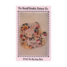 Overstuffed Upholstered Doll Chair The Nimble Thimble by Redcurlzs