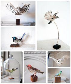 paper mache bird inspiration