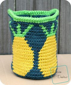Crochet Patterns Galore - Practical Pineapples Basket