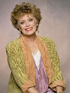 Rue McClanahan - remembered as Vivian Harmon on Maude and Blanche Devereaux on The Golden Girls Golden Girls Quotes, Girl Quotes, Rue Mcclanahan, Blanche Devereaux, Betty White, Thanks For The Memories, Star Wars, Famous Women, The Golden Girls