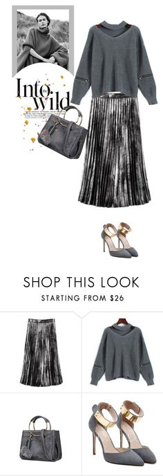 """""""Gray"""" by stellina-from-the-italian-glam ❤ liked on Polyvore featuring Anja"""