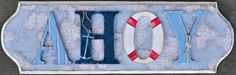 Ahoy Wooden Letter Wall Plaque at Jack and Jill Boutique