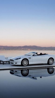 aston, martin, white, cars - Want to work from here? Work & live wherever you want: http://www.1worldand1vision.com