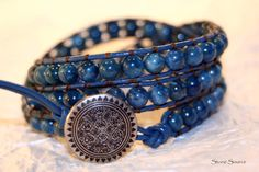 blue wrap ~~Did this but with brown leather for my niece..