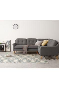 Corner Sofa Living Room, Grey Corner Sofa, House Interiors, Open Plan, Bungalow, Terrace, Sofas, Architecture Design, Christmas Ideas