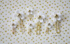 Marc Jacobs Daisy Inspired Gold Planner Paper Clip for Your Erin Condren Filofax Kikki K Planner Accessories