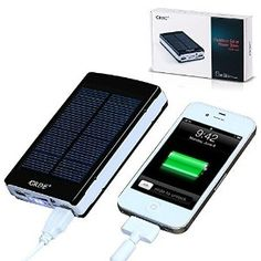 10000mAh Dual USB Shockproof Outdoor Solar Power Bank--$17.99