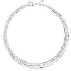 BuyJoma Layered Chain Bracelet, Silver Online at johnlewis.com