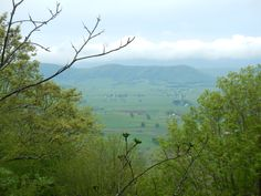 Day 7 -- A view of Burke's Garden from the Appalachian Trail.