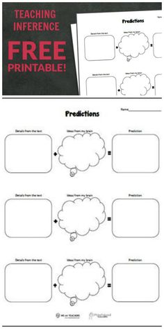 Free printable for teaching inference and predictions.