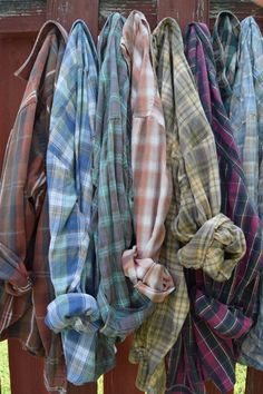 Sun Washed Vintage Flannel Shirts  Clover Market in Ardmore has a vendor that sells these for a great price and they feel and smell awesome!