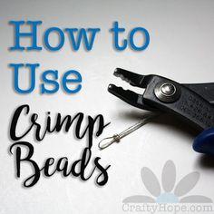 How to Use Crimp Beads in Jewelry Making #jewelrymaking #beadedjewelry