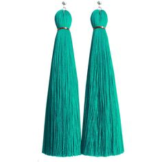 Jenny Jenny Turquoise Classic Tassel Earring ($62) ❤ liked on Polyvore featuring jewelry, earrings, tassel earrings, ball earrings, turquoise jewelry, tassel jewelry and green turquoise earrings
