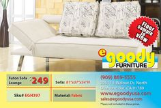 futon sofa bed beige fabric material lounge with two pillow