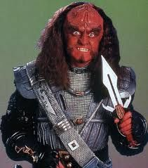 Gowron, once head of the Klingon High Council.....great eyes
