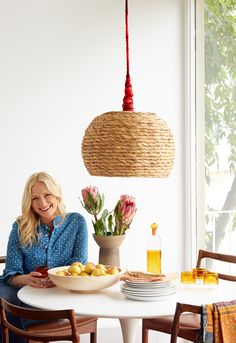 DIY - Basket Pendant Light