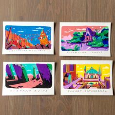 Travel Blues - 8/8 , Posca Markers  These are the last 4 pieces I did! Thank you so much for the support of the first 4 :)