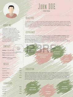خربش استئناف تصميم نموذج السيرة الذاتية CV مع صورة صورة