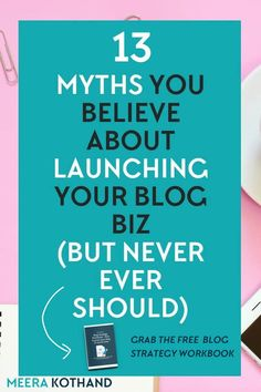 13 silly ideas you believe about launching your blog & online business (and what you should do instead). #blogging #blog #publishing #business #entrepreneur #work #WAHM