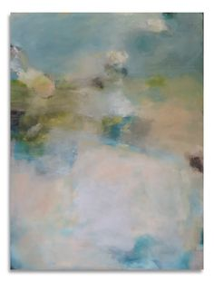 Breath, you invisible poem. atmospheric abstract painting by Sharon Kingston