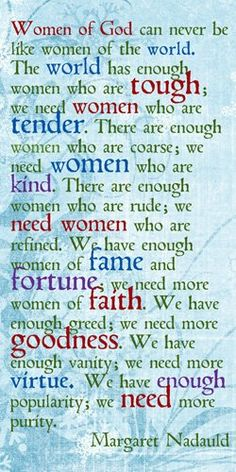 Lets be women of God