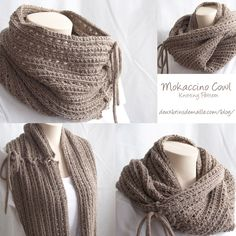 Knitting pattern : Mokaccino Cowl. Love it, so different! www.deuxbrinsdema...