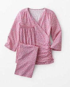 fd92d54541ea5 Ruched-Front Surplice Pajamas