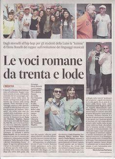 """L'articolo de """"Il Messaggero"""" sul concorso DALLO STORNELLO AL RAP. #Dallostornelloalrap"""
