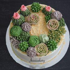 Terrarium theme cake