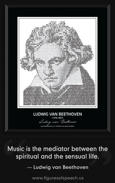 Figures Of Speech brings the words of Ludwig van Beethoven to life thru our unique and powerful combination of his image and quotations. #quotes #Beethoven #figuresofspeech #kickstarter