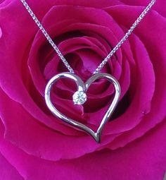 Hearts on Fire Diamond Ideal Cut Amorous Heart Pendant White Gold Fine Jewelry, Jewellery, Fire Heart, Bvlgari, Luxury Jewelry, Luxury Branding, Diamond Jewelry, Jewelry Collection, Heart Ring