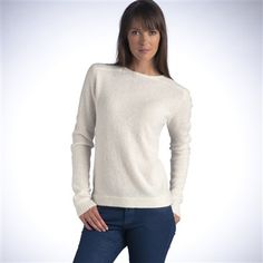 Long-Sleeved Round Neck Sweater, 10% Angora Black+Grey marl+Ivory white+Dark red+Navy blue
