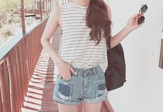 Find images and videos about girl, fashion and pretty on We Heart It - the app to get lost in what you love. Mori Girl Fashion, Cute Fashion, Teen Fashion, Fashion Beauty, Fashion Outfits, Fall College Outfits, Summer Outfits, Vacation Outfits, Korea Fashion