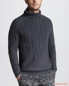 Приглашаю на онлайн по вязанию свитер с аранами.