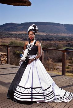 Sotho Traditional Dresses, African Traditional Wedding Dress, Traditional Wedding Attire, Traditional Weddings, Wedding Dresses South Africa, Beach Wedding Bridesmaid Dresses, African Wedding Dress, Xhosa Attire, African Attire