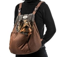 Luxury Sophie Backpack Carrier - Luxury Carriers - Backpack Style Posh Puppy…