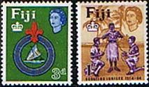 Postage Stamps Fiji 1964 50th Anniversary of Fijian Scout Movement Fine Mint SG 336 - 337 Scott 206 - 207 Other European and British Commonwealth Stamps HERE!